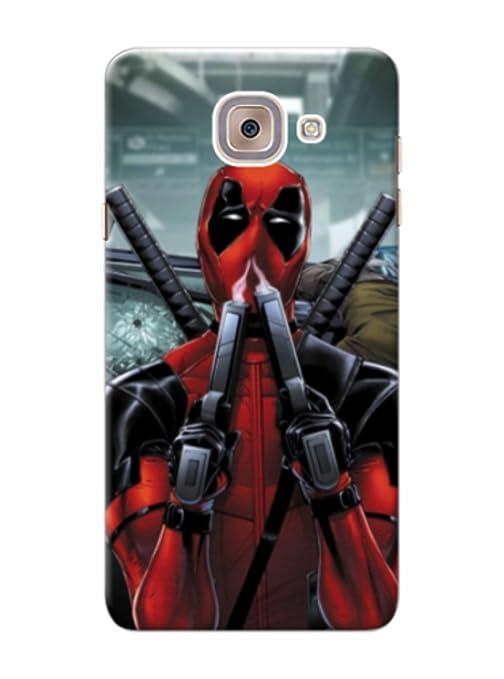 Samsung Galaxy J7 Max Cover With Cool Deadpool Print Amazonin
