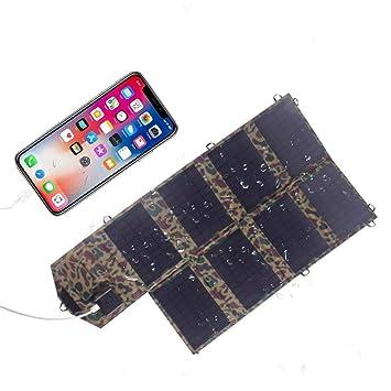 18V 28W Plegable Solar Panel Flexible,Solar Cargador para Ordenador Portátil Mòvil, Power Bank Ourdoor Cámping: Amazon.es: Hogar