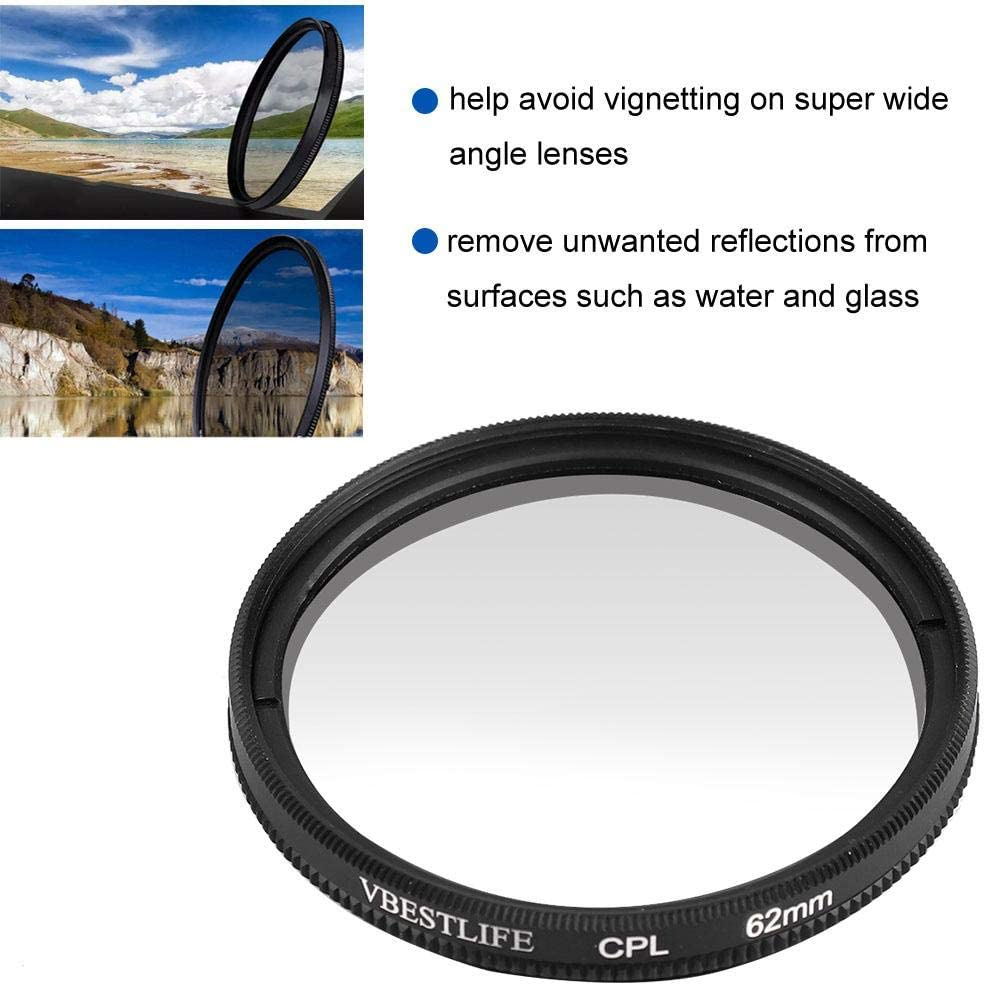 62mm Mugast Universal Ultra Slim Optical Glass CPL Polarizing Filter Lens Accessory for Sony for Nikon for Canon DSLR Camera