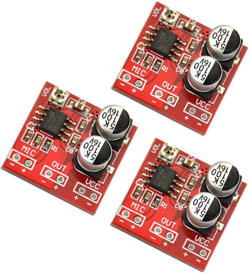 LM386 Electret Micr/ófono Tablero Amplificador de Potencia Voltaje DC 3.7V ~ 12V 20 x 20 mm