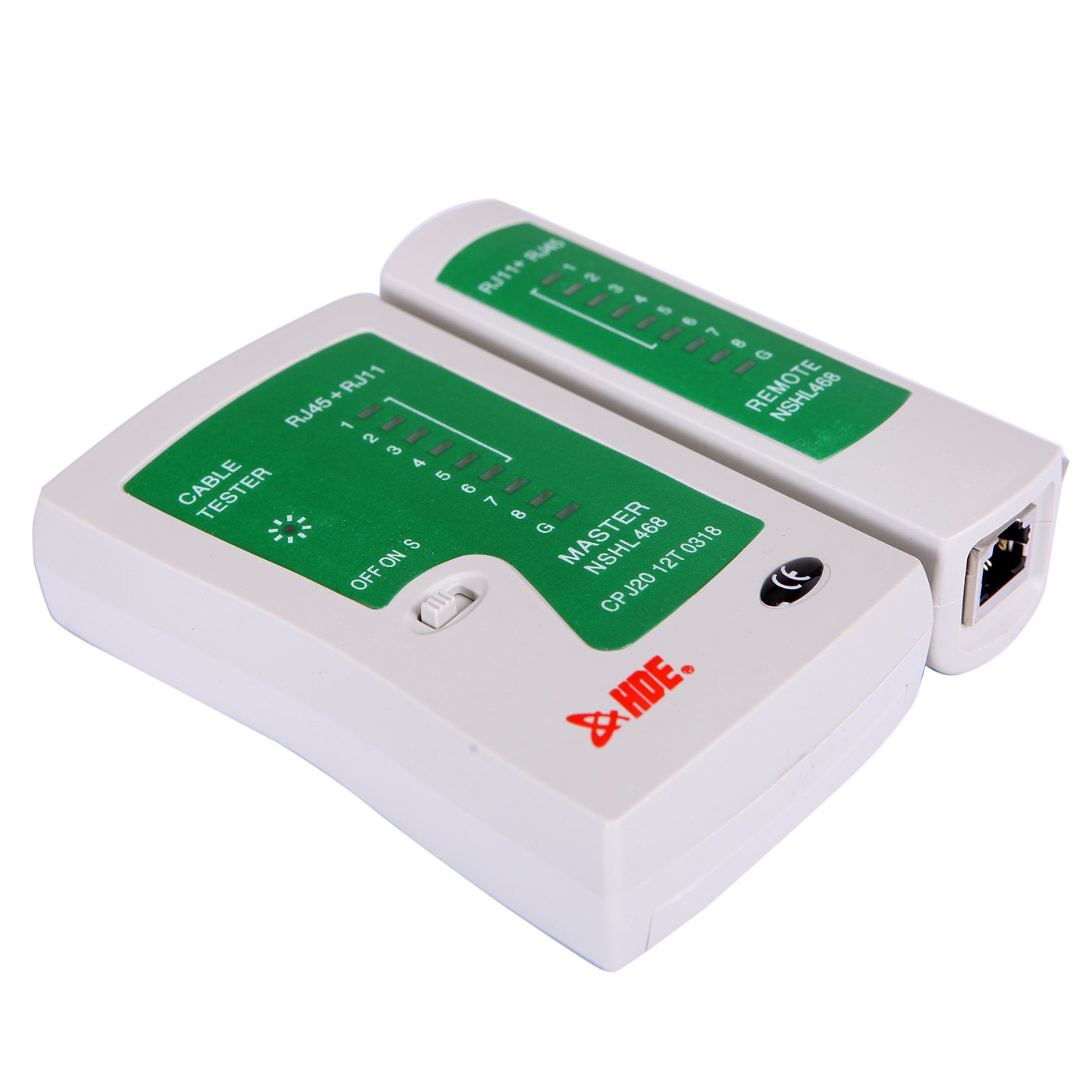 Hde Network Cable Tester For Lan Phone Rj45 Rj11 Rj12 Cat5 Cat6 Utp Wire Test Tool Modem Wiring Diagram Connection Cat 5 Sports Outdoors