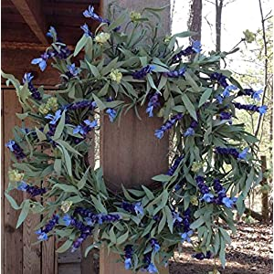 "Lavender Fields Wreath 22"" 110"