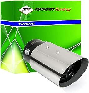 ER60023 - Acero inoxidable de tubo de escape del tubo de escape de para atornillar Embellecedor de tubos de escape universales Sport Sound