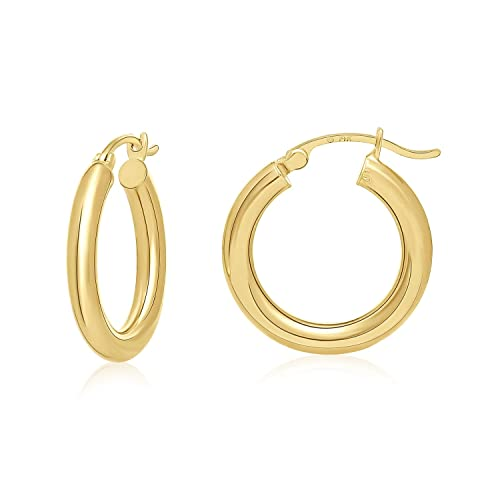 Amazon Com Mcs Jewelry 14 Karat Yellow Gold Hoop Earrings Diameter