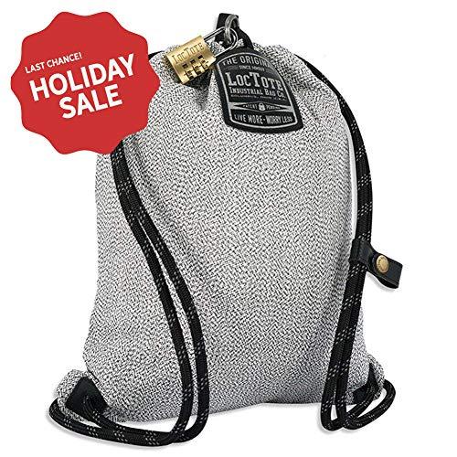 - LOCTOTE Flak Sack SPORT - Lightweight Theft-Resistant Drawstring Backpack | Lockable | Slash-Resistant | Portable Safe
