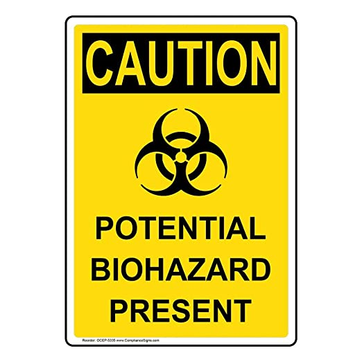 Aluminum for Recreation by ComplianceSigns Vertical Caution Poison Ivy OSHA Safety Sign 14x10 in