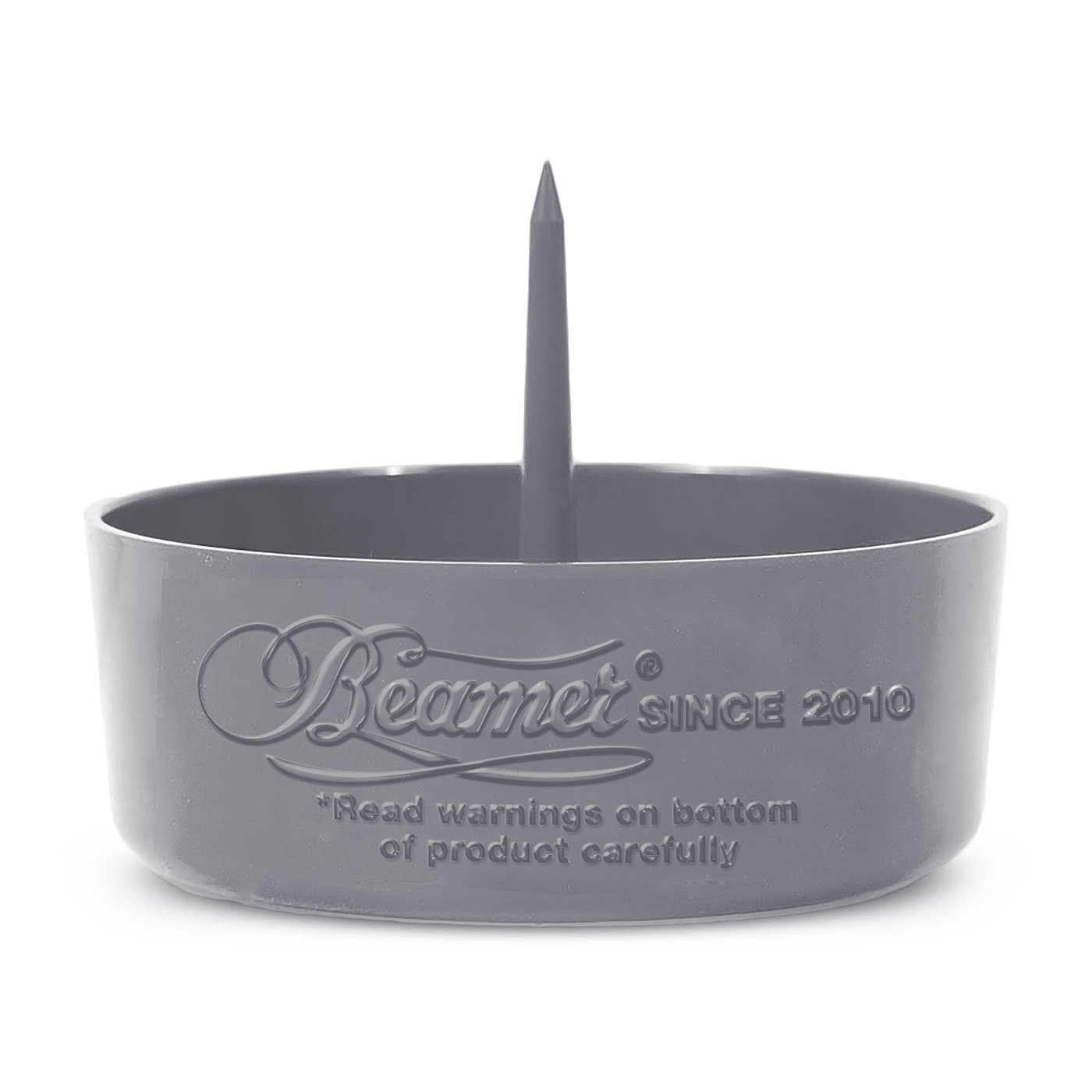 Beamer DePiper Gray Ashtray with Built in Cleaning Poker Spike Tool to Clean out Pipes and Bowls Quickly and Mess Free and Beamer Smoke Sticker
