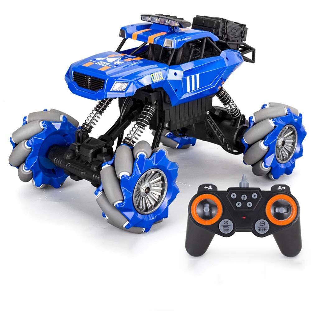 Blau 2 batteries GLBS Fernbedienung Auto Spielzeug Wand Klettern RC Auto Wiederaufladbare 4WD Stunt Auto Safe & Durable Geländewagen 2,4 GHz High Speed Fernbedienung Auto Kinder