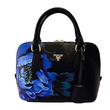 Ouneed Women Shoulder Bag Fashion Flower Printed Leather Handbag Shoulder Messenger Bag Large Tote 0123569720 Handbags & Shoulder Bags