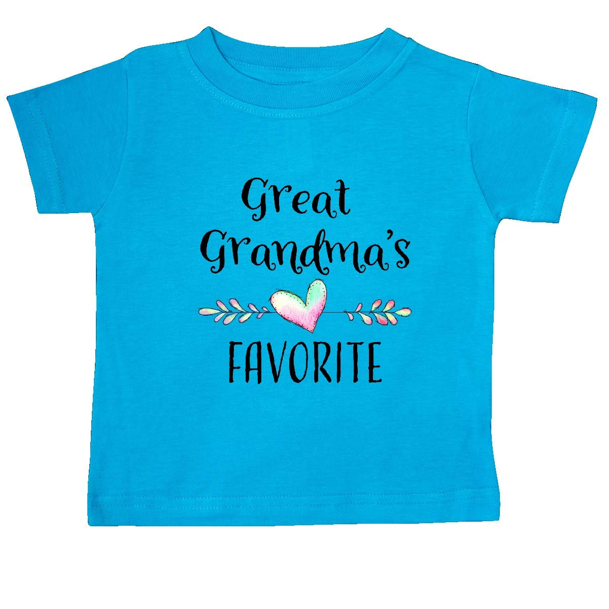 Heart Great Grandchild Baby T-Shirt inktastic Great Grandmas Favorite