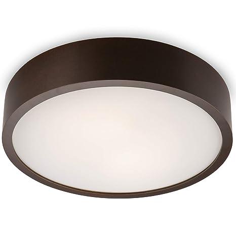 Madrid-Wenge - Aplique de techo, 37 cm de diámetro, luz LED ...