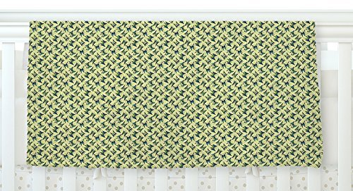 KESS InHouse Holly Helgeson Flutterby Yellow Lime 30 x 40 Fleece Baby Blanket 40 x 30 [並行輸入品]   B077ZMBPBC