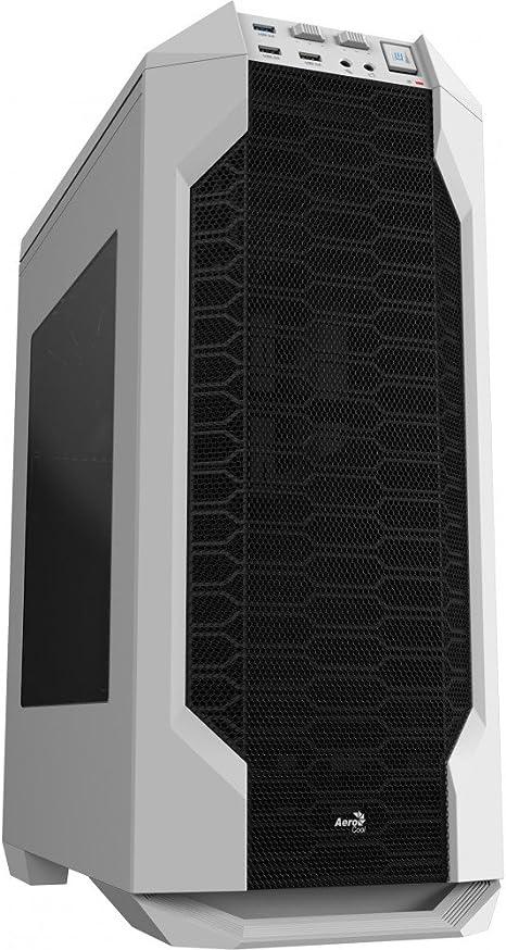 Aerocool LS5200W - Caja gaming para PC (ATX, Semitorre, incluye ventilador trasero 12 cm, 7 ranuras de expansión, hasta 6 ventiladores, ventana transparente, USB 2.0/3.0, Audio HD), color blanco: Aerocool: Amazon.es: Informática