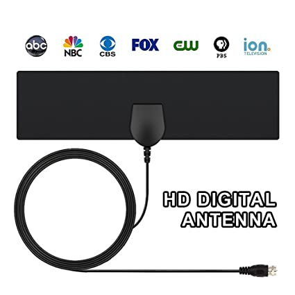 TV Antenna, Indoor Antenna for Digital TV , HDTV Antenna Ultra Thin, 10FT High