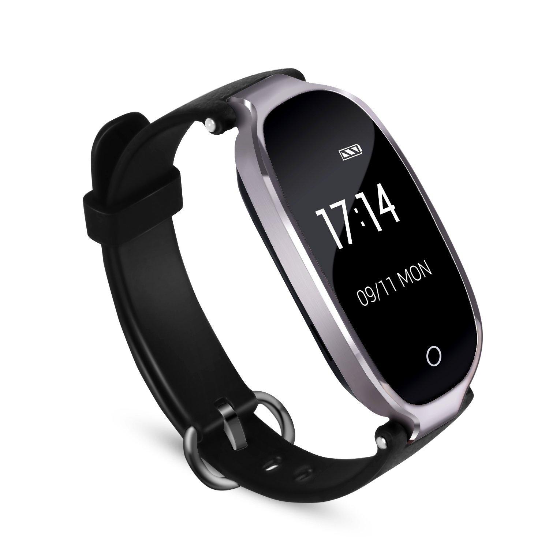 Fitness Tracker, AGPTEK Wasserdicht Fitness Armband Uhr mit mit Herzfrequenz, Schrittzä hler Fitness Uhr Pulsmesser Schlafmonitor Kalorienzä hler, Pulsmesser, Anruferinnerung SMS, Grau S3Q-EU