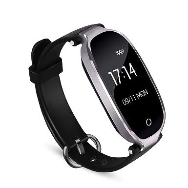 gran selección de a624c cf670 Reloj Actividad Inteligente para Mujer con Bluetooth 4.0, Impermeable  Contador de Calorias y Pasos, Monitor Cardíaco Ritmo y Sueño, ...