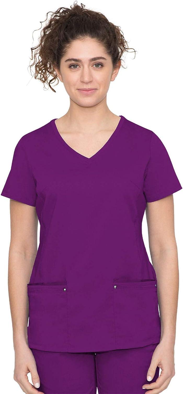 healing hands Purple Label Women's Juliet Top – Two Pocket V-Neck Scrub Top