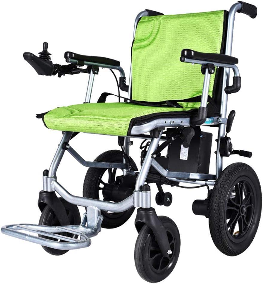 SHEHUIREN Silla DE Ruedas ELÉCTRICA Power Chair Plegable Aleación De Aluminio Silla De Rueda con Rueda Antivuelco para Personas Mayores Y Discapacitadas