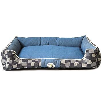 Saco de Dormir pequeño para Mascotas Cuatro Temporadas de Estera de Lona Lavable Universal para Gatos