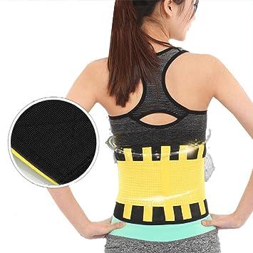 02f8c3ca25 ZHUOTOP Yoga Slim Fit Waist Belt Trimmer Trainer Weight Loss Burn Fat Body  Shaper Girdle  Amazon.co.uk  Sports   Outdoors
