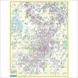 Austin Standard Wall Map W Zip Codes Grids Mapsco Wall Maps Map