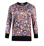 Product review for ZERDOCEAN Women's Plus Size Printed Fleece Lining Stretch Pullover T Shirt Sweatshirt