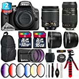 Holiday Saving Bundle for D3300 DSLR Camera + Tamron 70-300mm Di LD Lens + AF-P 18-55mm + 6PC Graduated Color Filter Set + 2yr Extended Warranty + 32GB Class 10 Memory Card - International Version