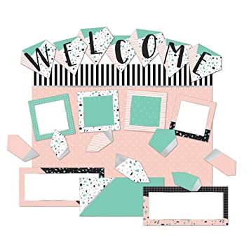 Eureka Welcome Pink And Green Confetti Pattern Back To