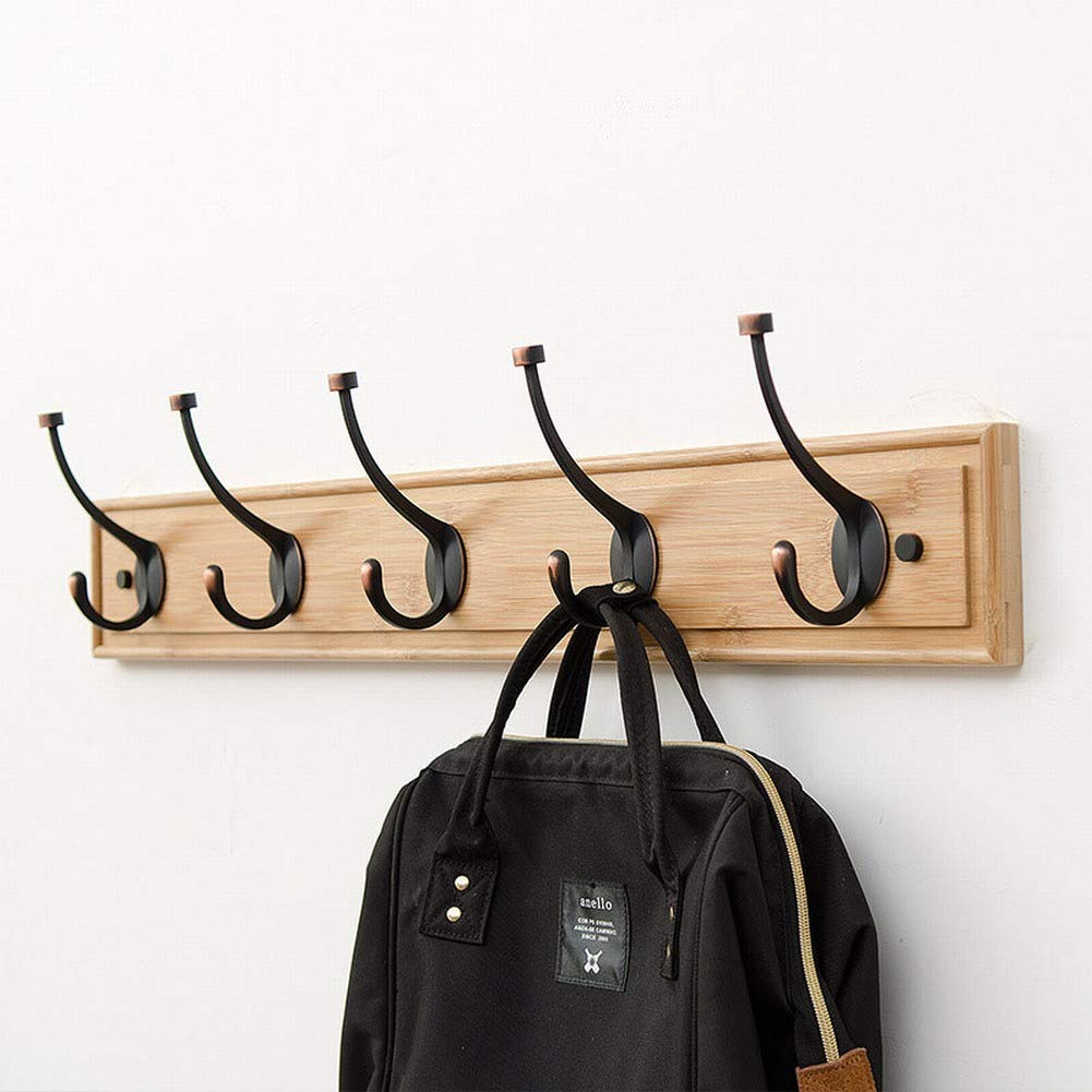 ChuanHan European Style Wall Coat Rack Solid Wood Bedroom Corner Hanging Hook Hooks Creative Door Wooden Hook