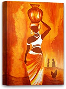 Funny Ugly Christmas Sweater African Woman Canvas Beautiful Woman Colorful Painting Housewarming Gifts for Her Stylish Room Decor Vintage Wall Art for Home African Girl 8