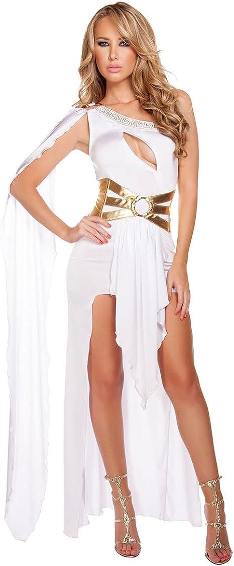 CDSS Disfraz de Halloween para Mujer con un Hombro Vestido Sexy de ...
