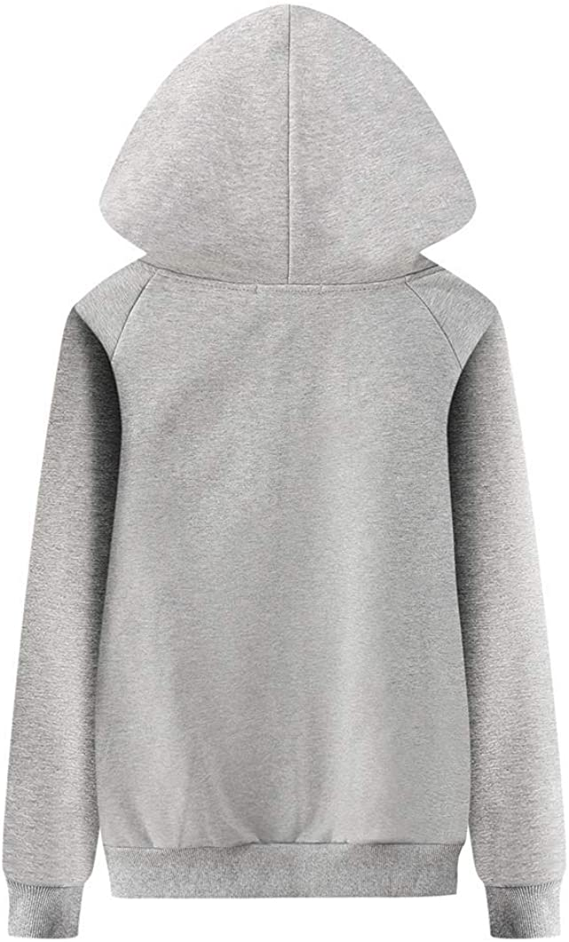 Duyang Womens Fleece Thicken Soft Long Sleeve Jacket Zip Up Hooded Sweatshirts