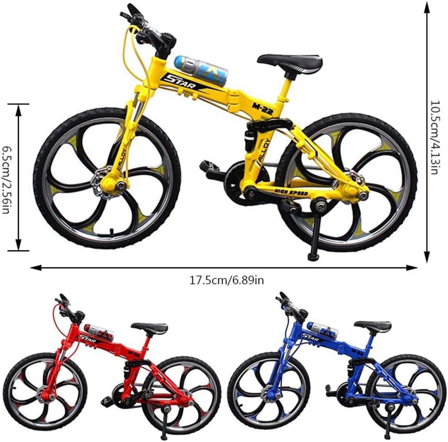 FOONEE Mini Bicicleta de Juguete de aleación, Adornos Bicicleta simulación Modelo Bicicleta Dedo para Colecciones, Mini Bicicleta Bicicleta Dedo Bicicleta Fija Novedad Juguetes Juego para niños: Amazon.es: Hogar