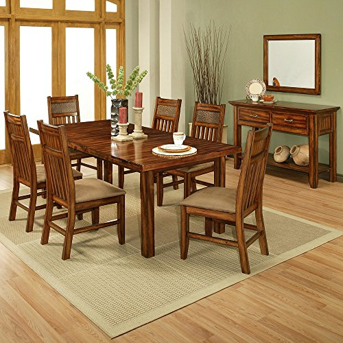 Amanda Home - Marissa County Collection Solid Cherry Wood 7 Piece Dining Set