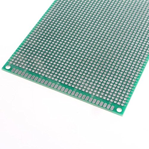 UXOXAS 9 x 15cm Double-Sided Glass Fiber Prototyping PCB Universal Breadboard(2 pcs)
