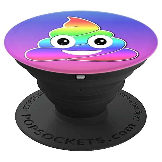 Unicorn Poop Rainbow Emoji Girls Kids Women Cute Funny Gift - PopSockets  Grip and Stand for Phones and Tablets