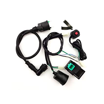 tc-motor wiring loom harness + kill stop switch + ignition coil + ac cdi