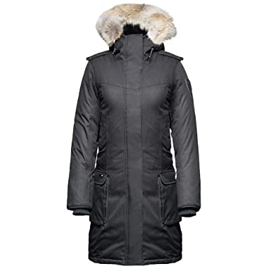 Amazon.com: Nobis Ladies Knee Length Parka ABBY-Crosshatch Light Grey:  Clothing