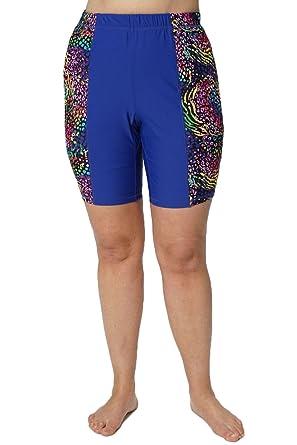 0df6b3f53c HydroChic Women's Swim Boy Shorts – Shorts Swimsuit Bottoms Royal  Blue/Tiger, X-
