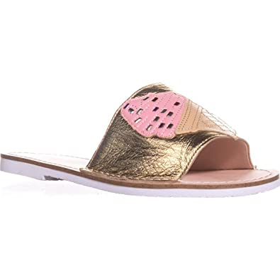3c519ad92f77 Kate Spade New York Womens Icey Leather Open Toe Casual Slide