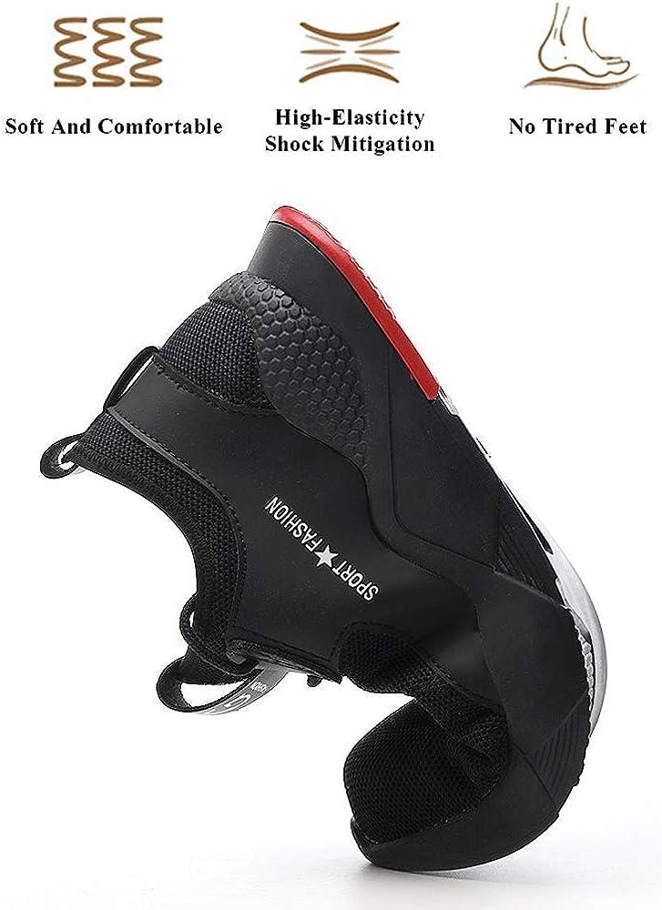 LARNMERN Chaussures de S/écurit/é pour Homme,LM-1035 Embout en Acier Antid/érapante Chaussures de Travail Respirant Confortable