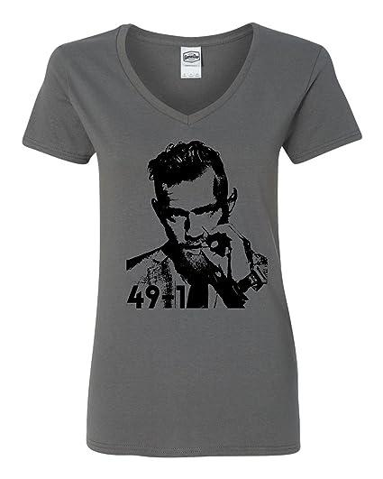 e45e0a0f Amazon.com: Conor McGregor 49-1 Shirt - McGregor vs Mayweather Boxing -  Funny Women's V-Neck T-Shirt: Sports & Outdoors