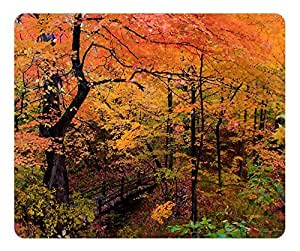 Mouse Pad Romantic Walk In The Park Autumn Desktop Laptop Mousepads Comfortable Office Mouse Pad Mat Cute Gaming Mouse Pad