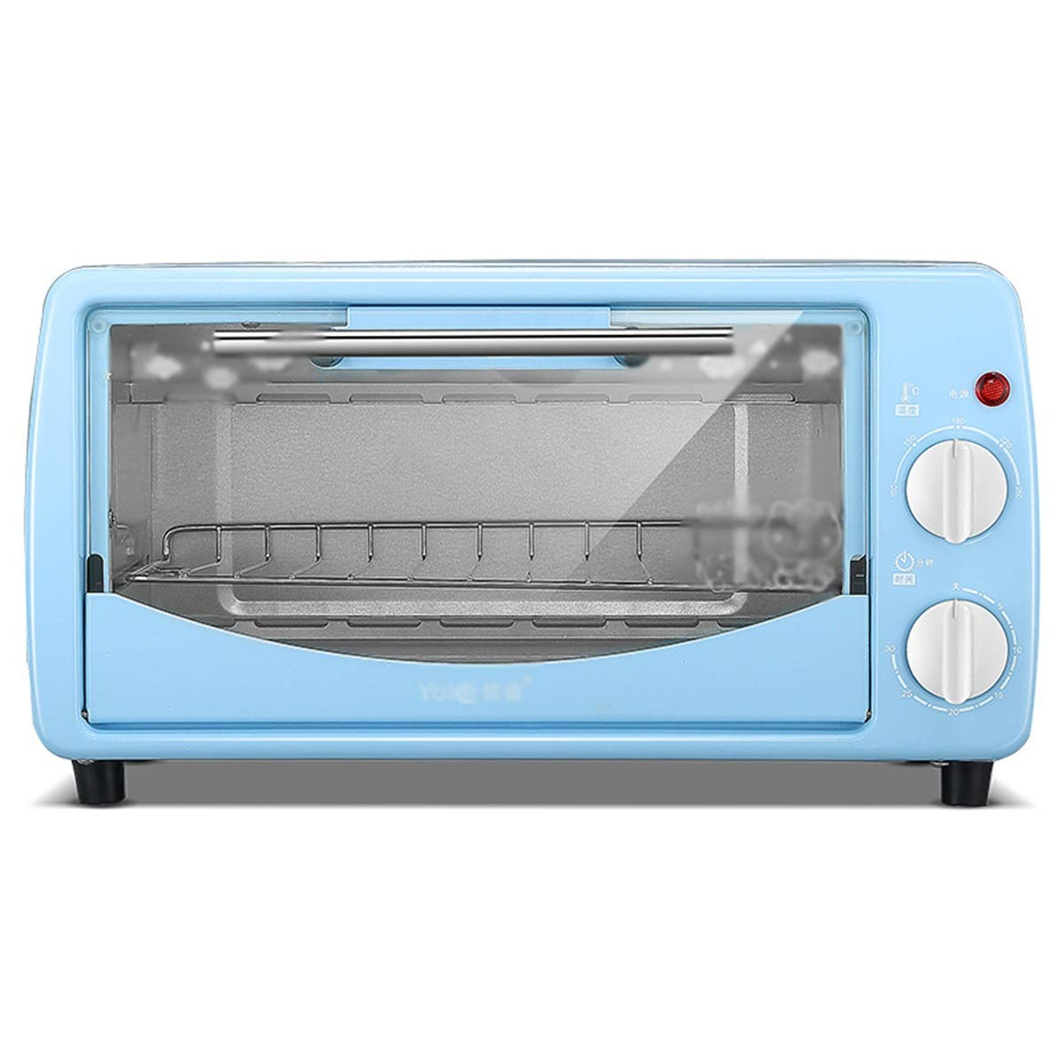 WPQW ミニオーブン - ミニオーブン家庭用ベーキングオーブン小容量電気オーブン多機能オーブン -748オーブントースター (色 : 青) B07RSM2QGM 青