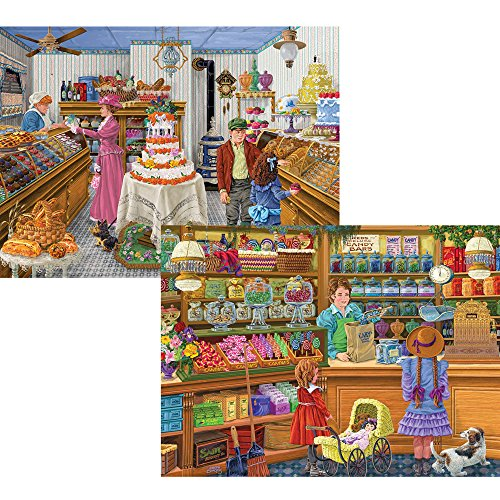 Bits and Pieces - Set of Two (2) 500 Piece Jigsaw Puzzle for Adults 18 x 24 - Sweets For The Sweets, Fantastic Cakes - 500 pc Jigsaws by Artist Joseph Burgess