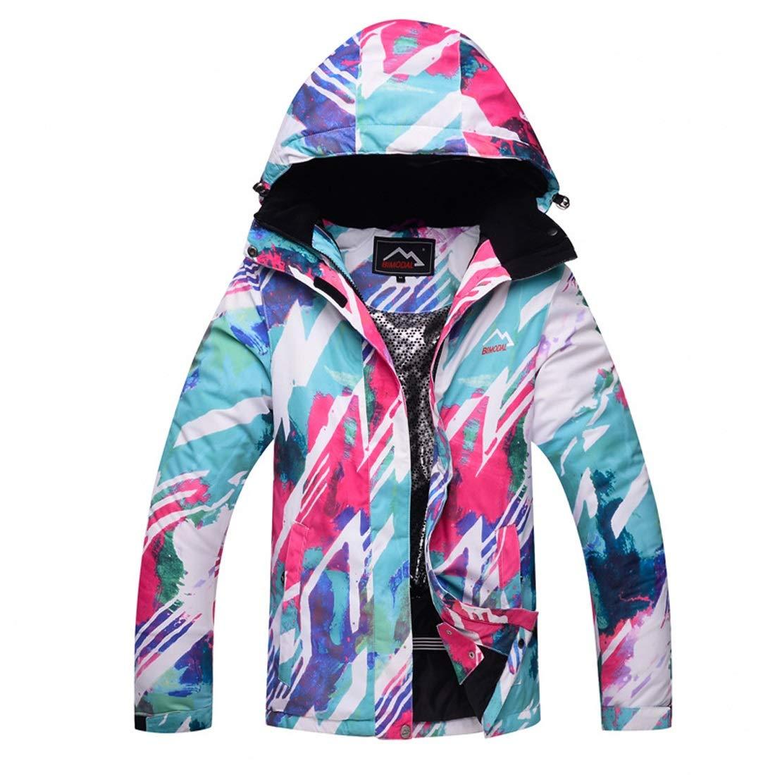 C02 XXL FELICIOO Veste de Ski pour Femme Coupe-Vent en Plein air, Chaud