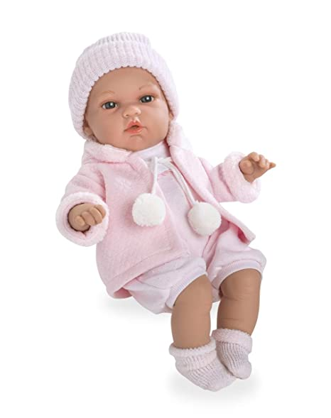 amazon com ann lauren 13 inch baby girl doll with pacifier toys
