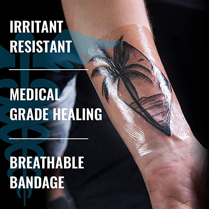 Saniderm tattoo bandage 10.2-inches x 8-yard roll Clear Adhesive ...