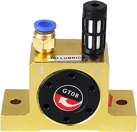 Low Noise Connector GT-16 Industrial Pneumatic Turbine Vibrator + Silencer