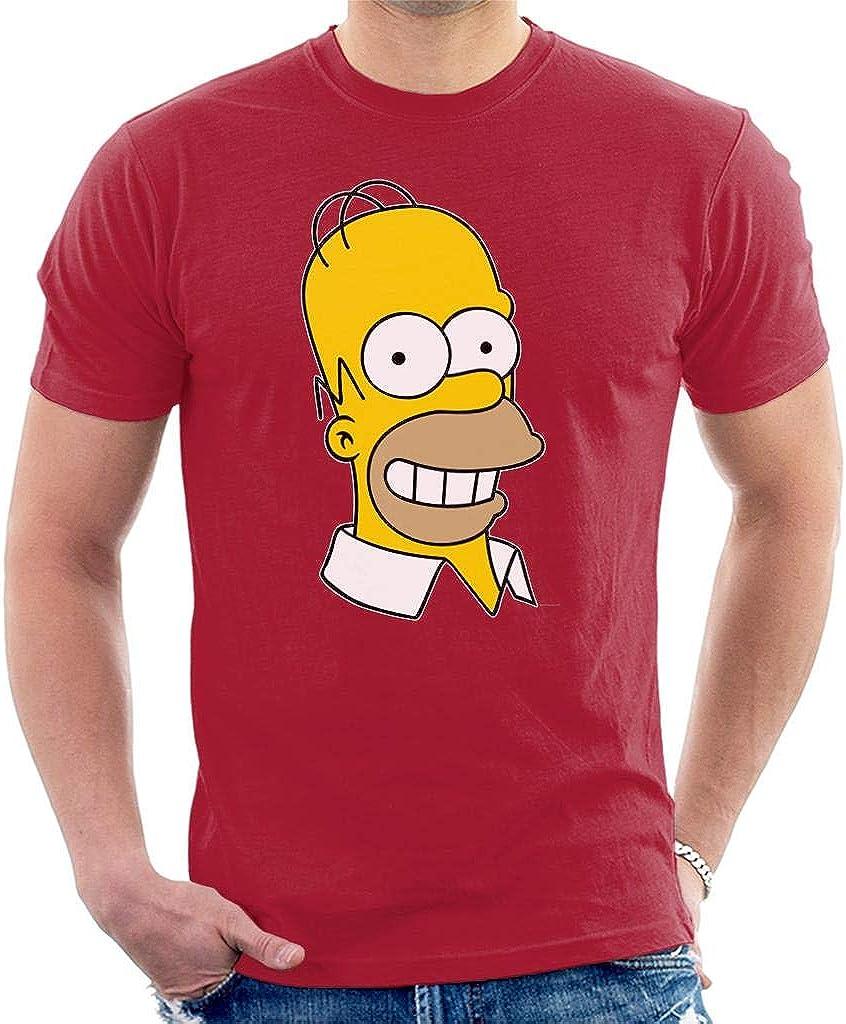 G/én/érique The Simpsons Smiling Homer Mens Sweatshirt